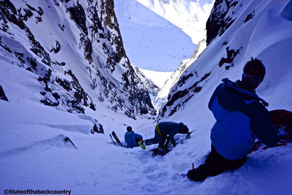 The top of a First Ascent, and soon to be First Descent, by the Ice Axe Expeditions crew in spring 2014. Come join us in 2015 to explore more lines like this one! Location: Sisimiut, Greenland