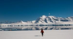 Brennan Lagasse, Skinning in Antarctica, Warren Miller Ent., by Keoki Flagg